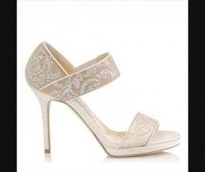 Këpucët me tyl për nuse