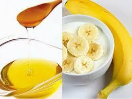 Maskë me banane,mjalt dhe kos