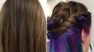 Në trend flokët e lyera përbrenda