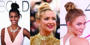Në trend grumbullimi i flokve në majë të kokës