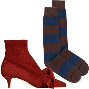 Në trend çizmet e shkurtra dhe çorape të gjata
